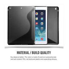 Stylish TPU Silicone Rubber Soft Back Case Cover Protector For Apple iPad Air/ 5