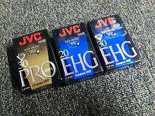 3 JVC TC-30 TC-20 EHG ProHF Hi-Fi VHS-C 30 Minute Blank Cassette SEALED