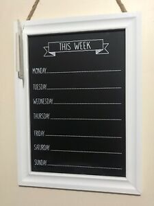 Wooden WEEKDAYS Chalk Board memo Message Board Weekdays Planner Black Board new