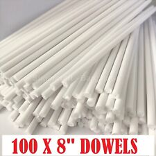 """100 x 8"""" Long CAKE DOWELLING Rods Support Tiered Cakes Sugarcraft DOWELS DOWELS"""