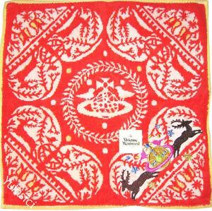 Vivienne Westwood Handkerchief Towel Heart Orb & Deer+Orb Deer Embroidered-28cm