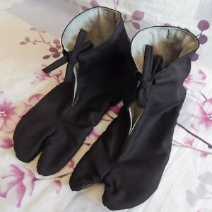 Japanese Samurai Aikido Iaido Black Tabi Shoes for tatami