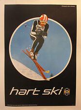 VINTAGE AMERICAN SKI POSTER HART SKI 1970S WINTER DOWNHILL RACER