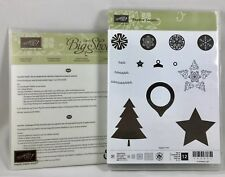 Stampin' Up FESTIVE SEASON Stamp SET + FESTIVE STITCHING THINLETS New Retired
