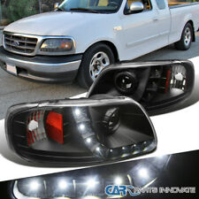Ford 97-03 F150 97-02 Expedition Pickup Black Clear LED DRL Projector Headlights