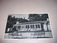 1940s RECREATION HALL SKYLAND SKYLINE DRIVE VIRGINIA LINEN POSTCARD