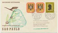 """BUNDESREPUBLIK 1956 Erstflug Deutsche Lufthansa """"FRANKFURT/M. – SAO PAULO"""""""
