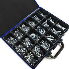 758 ASSORTED M5 M6 M8 ZINC PART FULLY THREADED BOLTS HEX NUT DIN 933 DIN 931 KIT