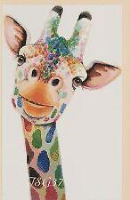 Cross Stitch Chart - Colourful Giraffe pop art No. 392 .TSG37