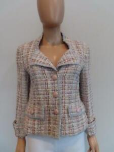 Chanel Pink/Multicolor Tweed Jacket/Blazer Size F 40/US 8