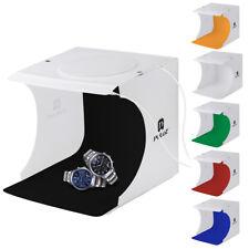 "9 "" Luz LED Mini Caja de Fotografía Estudio Iluminación Telón de Fondo Cubo"