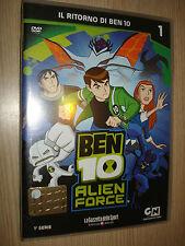 DVD N° 1 BEN 10 ALIEN FORCE PRIMA 1° SERIE IL RITORNO DI BEN 10 GAZZETTA