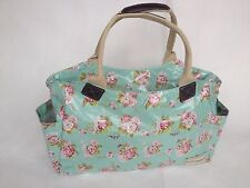 Vintage Style Martha Rose Oilcloth Floral Print Tote/ Hand Bag - Forever England