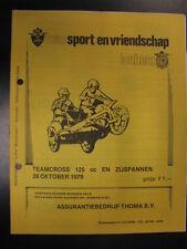 Programmaboekje Teamcross 125cc en Zijspannen Lochem (NL) 28 oktober 1979