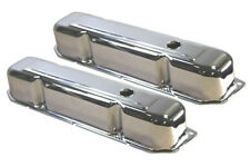 Chrome Steel Mopar Dodge Chrysler 383 440 Valve Covers W/ Baffles V8 Hot Rod