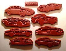 Ferrari Car RUBBER STAMP SET UnMt 9- Dino 246, 275, 250 GT, Lusso, Tessarosa, P3