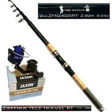 Angelset Angelrute Jaxon Zaffira 2,40m 25g Angelrolle Lotus LTI mit Ersatzspule