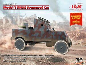 ICM 35669 - 1/35 - Model T RNAS Armoured Car Plastic model kit