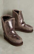Anthropologie Mou Shearling Boots Metallic Size 7 Super Cozy