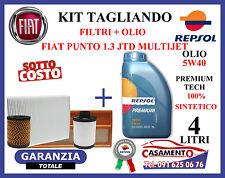 KIT TAGLIANDO FILTRI + OLIO REPSOL 5W40 FIAT PUNTO 1.3 MULTIJET