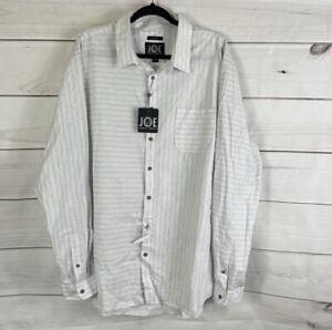 Joseph Abboud Mens Size 2XLT Slim Fit Button Down Shirt Long Sleeve Dress Shirt