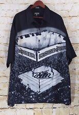 Roca Wear Mens 2x Button Up Shirt  2XL XXL Boxing Stadium Scene Graphic