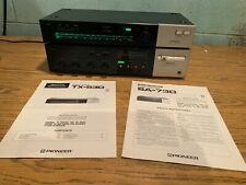 Pioneer Sa-730 Stereo Integrated Amplifier & Tx-530 Tuner W/ Original Manuals