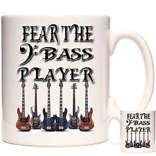 BASS GUITAR MUG, Fear The Bass Player. Matching Guitar Coaster Available.