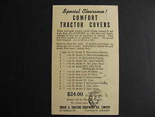 Canada 1947 Tractor Covers Toronto advertising postcard, check it out!
