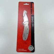 Kershaw Chive 1600 Ken Onion SPEEDSAFE Folding Knife Drop Point Bead Blast Blade