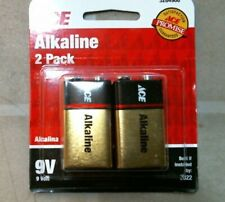 Ace 3284908 Alkaline 9 Volt 2pk Batteries, Free Shipping