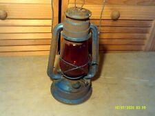 Vintage Chalwyn Far East Kerosene Lantern with Red Globe Made in England