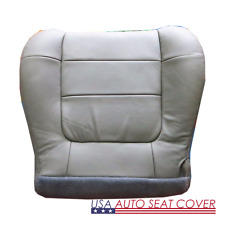 00 -02 FORD F.150 LARIAT 4X4,2X4, V8 GAS Driver Bottom Leather Seat cover  GRAY