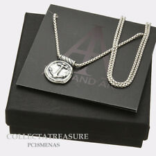 Authentic Alex and Ani Men's Anchor .925 SterlingSilver Expandable Necklace