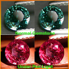 0.21Cts Natural Amazing Alexandrite Hue COLOR CHANGE GARNET 2.50 MM Rd Pair 2Pcs