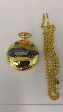 Volvo 480 ref288 pewter effect emblem gold quartz pocket watch