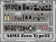 Eduard Zoom FE218 1/48 Mitsubishi A6M3 'Zero' Type 22 Hasegawa