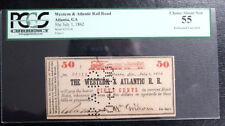 50C  Western  Atlantic Rail Road 1862 Atlanta Georgia Obsolete PCGS 55 ABOUT NEW