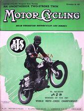 Nov 28 1957 A.J.S. Motor Cycles ADVERT W Nilson Moto Cross Champ: Magazine Cover