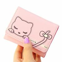 Cute Cat Wallets Lady Short Coins Purses Hasp 3 Fold Wallet Casual Accessory New