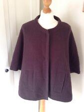 Lakeland Brown Wool Mix Cape Style Jacket.Size Medium. Winter/warm.