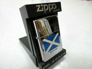 ZIPPO - SCOTLAND ST ANDREWS FLAG - NEW AND UNSTRUCK - BOXED