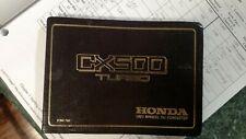 1982 Honda CX500 Turbo Owners Manual factory original OEM