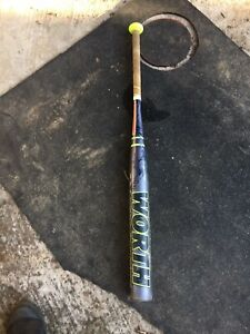"Worth Softball Bat 33"" 23oz -10 Fast Pitch Very Good Condition"