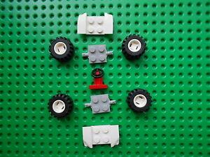 LEGO WHEELS/TYRES/AXLEPLATES/MUDGAURDS/STEERING WHEEL PACK NEW  FREE UK POSTAGE