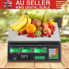 40KG Kitchen Scale Digital Commercial Shop Electronic Weight Scales Food AU