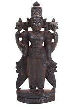 Südindien 20. Jh. Holzfigur - A Carved Wood Figure of Vishnu, South India - Inde