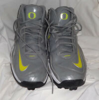 2012 Oregon Ducks NICK CODY Game Used Worn NCAA Football Cleats PE Promo Nike