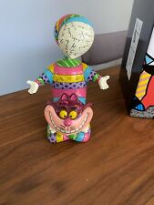 New ListingDisney Enesco Romero Britto Alice In Wonderland Cheshire Cat 8 Inch Figurine,New
