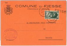 REPUBBLICA - Storia Postale: ANNULLO MUTO EMERGENZA su BUSTA da  FIESSE 1951